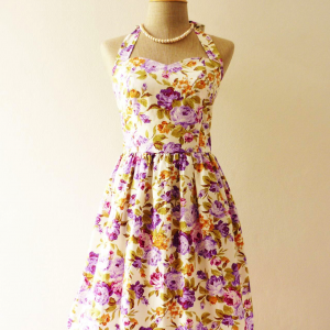 Floral Dress in Purple Once Upon a ..