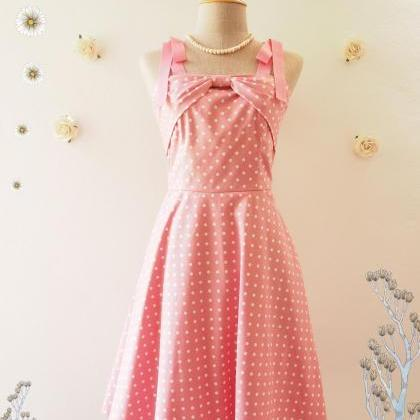 Candy Party Pink Summer Dress Polka..