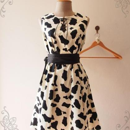 MOO Dress, Cow Print Dress, Summer ..