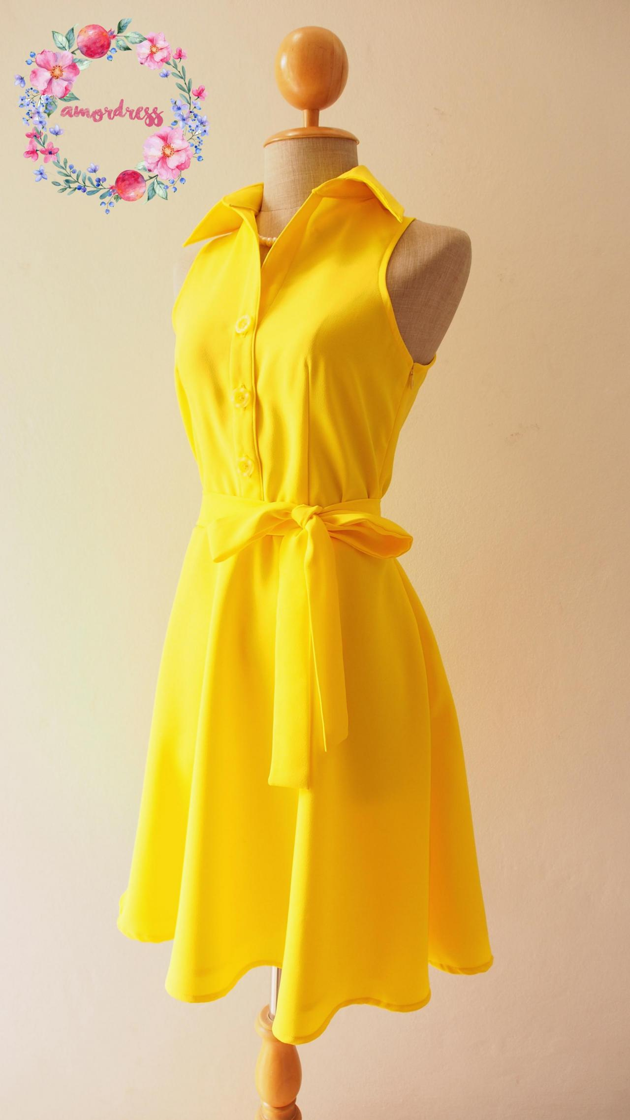 5ed6443f2e3a Yellow Bridesmaid Dress
