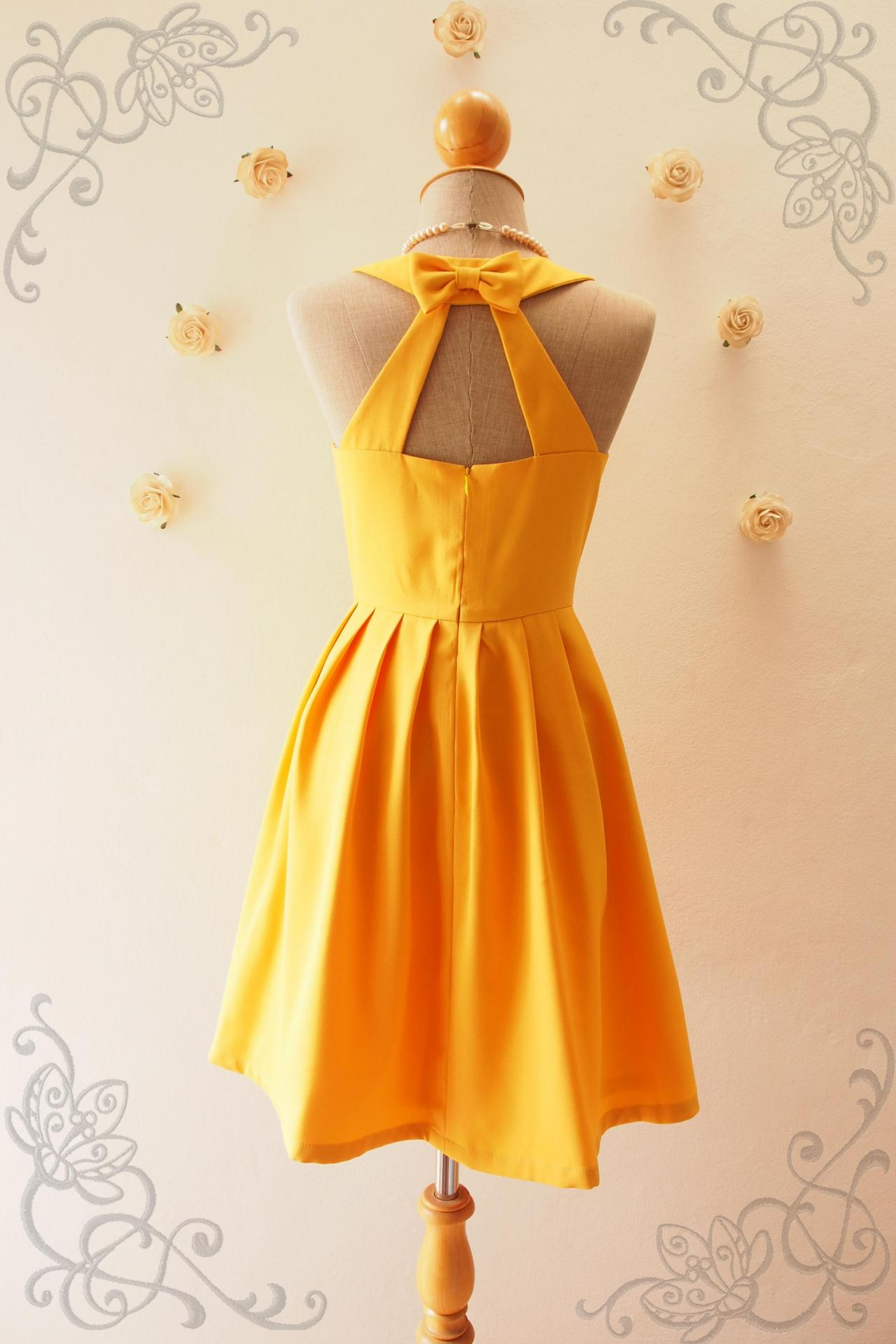Love potion mustard bridesmaid dress mustard yellow for Yellow wedding dresses for sale