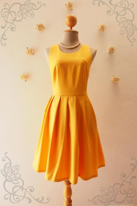 LOVE POTION - Mustard Bridesmaid Dress, Mustard Yellow Dress,Yellow Graduation dress, Yellow sundress,Summer Dress, Mustard Skater Dress, Shirt Dress, Formal Dress, Midi Dress, Vintage Sundress, Vintage Inspired Dress, - DOWNTOWN - XS-XL, Custom