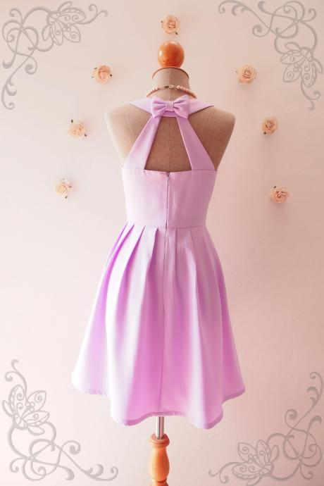 LOVE POTION - Lavender Bridesmaid Dress, Backless Dress,Purple Dress,Lilac Graduation dress, Lilac sundress, Purple Summer Dress, Skater Dress, Midi Dress, Vintage Sundress, Vintage Inspired Dress, - DOWNTOWN - XS-XL, Custom