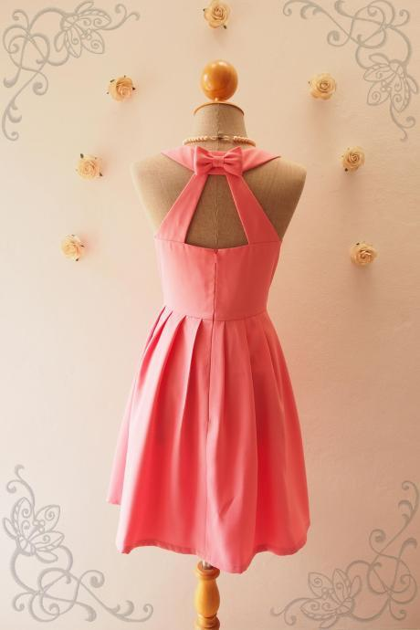 LOVE POTION - Rose Pink dress,Pink Bridesmaid Dress,Pink Party Dress, Vintage Inspired, Audrey Hepburn Dress, Skater Dress, Mint formal dress, Summer Dress