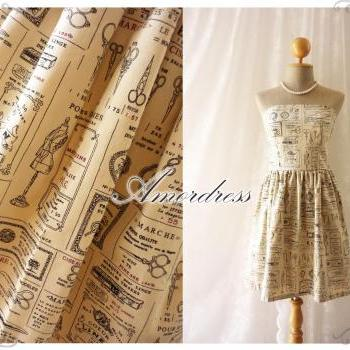 The Dressmaker Dress Beautiful Vintage Inspired Dress in Cream Strapless Dress